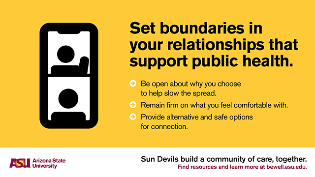 Set boundaries in your relationships that support public health.