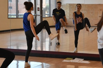 Students and Instructor in a piladance session at ASU