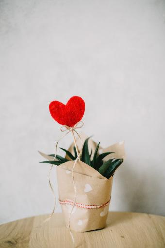 Gift basket with a heart